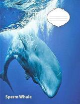 Sperm Whale Wide Ruled Line Paper Composition Book