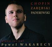 Piano Recital: Chopin, Zarebski, Paderewski