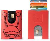 Walter Wallet X Nozzman Kunststof Creditcardhouder - Crabs/Jet Red
