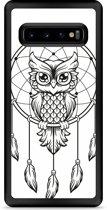 Galaxy S10 Hardcase hoesje Dream Owl Mandala Black