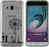 MP Case Transparant TPU-Case  Love print back cover voor Samsung Galaxy J3 2016 (J320F) beschermhoes