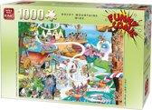 King Funny Comic Puzzel - Rocky Mountains Wide - 1000 Stukjes