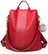 Miss lulu Rugzak - Dames Rugtas - Anti Difzaal - Waterdicht - Lichtgewicht - Backpack Anti-Theft - Burgundy (LG1903 BY)