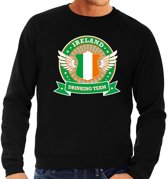 Zwart Ireland drinking team sweater heren XL