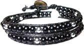 Bela Donaco Armband exclusive - Onyx en Sterling Zilvere