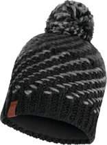 Buff Knitted & Polar Dames Muts - Graphite - One Size