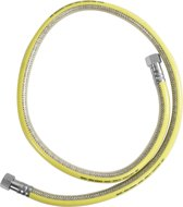 Soper Gasslang Inox 150cm incl koppeling en tape kit M24  EN14800 GASTEC