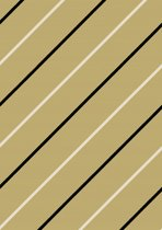 Inpakpapier met diagonaal zwarte en witte strepen - Toonbankrol breedte 30 cm - 250m lang - K40725-12-30-250Mtr
