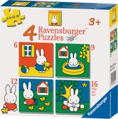 Ravensburger nijntje - Vier puzzels (6+9+12+16 stukjes)
