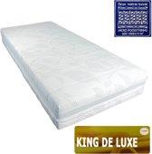 Slaaploods.nl King de Luxe - Micro Pocketvering Matras - Latex Afdeklaag - 160x200x25 cm - Hard