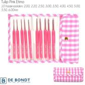 Tulip ETIMO Candy Softgrip Haaknaaldenset Gingham Pink