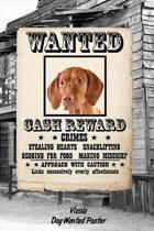 Vizsla Dog Wanted Poster