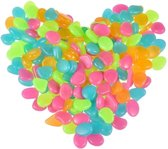 50x Leuke Pebbles Aquarium Stenen Glow in the Dark | Multicolor | Decoratie Aquariumsteentjes - Bodembeddeker - 50 Stuks