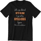 Kinder T-shirt 6jr: Jullie zijn allemaal stom ik ga wel bij Opa & Oma logeren (daar is het veel leuker)