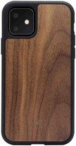 Woodcessories - iPhone 11 Hoesje - EcoBump Walnoot Zwart