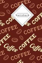 Notizbuch: Kaffee am morgen Vertreibt Kummer und Sorgen - 120 gepunktete Seiten DinA5 - Ideal f�r die Schule, zum Malen, Zeichnen