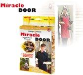 Orange Donkey Miracle Door Zwart Hordeur Vliegengordijn - Insectengaas - Lamellenhor voor deuren (met magneet) - 210x100 cm