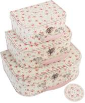 set van 3 koffers Petit Rose set van 3 koffers Petit Rose
