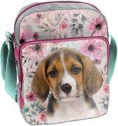Animal Pictures Beagle - Schoudertasje - 24 cm - Multi