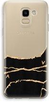 Samsung Galaxy J6 (2018) Transparant Hoesje (Soft) - Gouden marmer