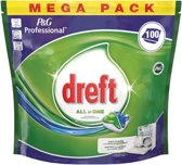 Dreft Regular - All in One -100 Stuks - Vaatwastabletten