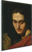 Johannes de Evangelist - Schilderij van Jean Auguste Dominique Ingres Plexiglas 60x90 cm - Foto print op Glas (Plexiglas wanddecoratie)