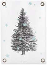 Tuinposter Pinetree Light Blue (70x100cm)