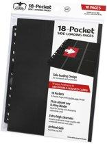 Ultimate Guard 18-Pocket Pages Side-Loading Black (10)