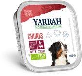 Yarrah Dog Kuipje Hondenvoeding Brokjes Kip/Rund 150 gr - 14 Stuks