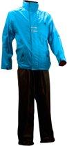 Ralka Regenpak - Volwassenen - Unisex - Maat XL - Azuurblauw/Zwart
