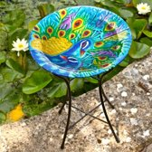 Peacock Vogelbadje - Glas - Multi colour