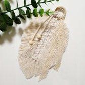 Macrame plantenhanger van katoen - Plant hanger touw 100 cm - Macrame koord - Botanische sfeer