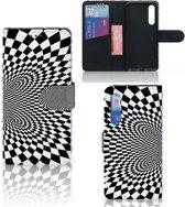 Bookcase Xiaomi Mi 9 SE Zwart-Wit Design Illusie