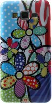Colorful Flowers silicone hoes Samsung Galaxy Grand Prime SM-G530H