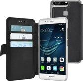 Azuri walletcase met magnetische sluiting - zwart - voor Huawei P9 Lite