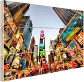 Times Square in New York Hout 120x80 cm - Foto print op Hout (Wanddecoratie)