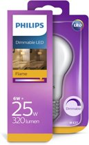 Philips LED Kogel 6W (25W) E27 flame dimbaar