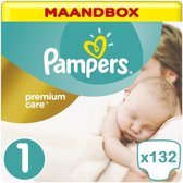 Pampers Premium Care Maat 1 Maandbox - 132 Luiers