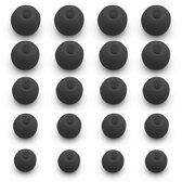 MMOBIEL 10 Paar Siliconen Oordoppen / Oordopjes Set (ZWART) in Verschillende Maten