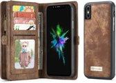 CaseMe Luxury Wallet Case Bruin iPhone X / Xs