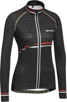 Gonso Berylia Wielrenshirt Dames Fietsshirt - Maat XL  - Vrouwen - zwart/rood/wit