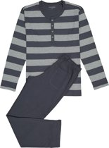 Schiesser Pyjama Blauw/Grijs - Maat 50