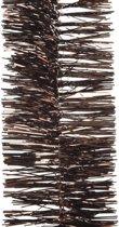 Kerstboom folie slinger donkerbruin 270 cm - bruine kerstslingers