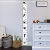 Canvas groeimeter 'Animals'|kraamkado|babykamer accesoire|wanddecoratie