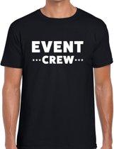 Event crew tekst t-shirt zwart heren - evenementen staff  / personeel shirt XL