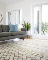 Beige tapijten woonkamer vloerkleed 160x230