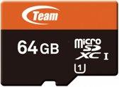 Team Group micro-SDXC, 64GB 64GB Micro SDXC flashgeheugen