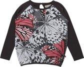 Minymo - meisjes shirt - lange mouwen - vlinder - roze
