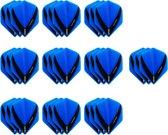 10 Sets (30 stuks) Stevige XS100 Vista - flights - Multipack - Aqua - blauw