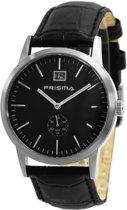 Prisma Herenhorloge P.2172 Lederen band Zilver